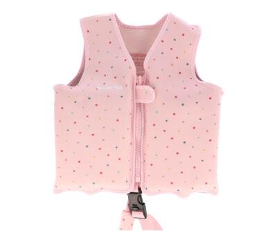 Chaleco Flotador Aprendizaje Dots Pink