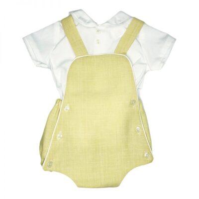 Peto con Camisa Lino Amarillo